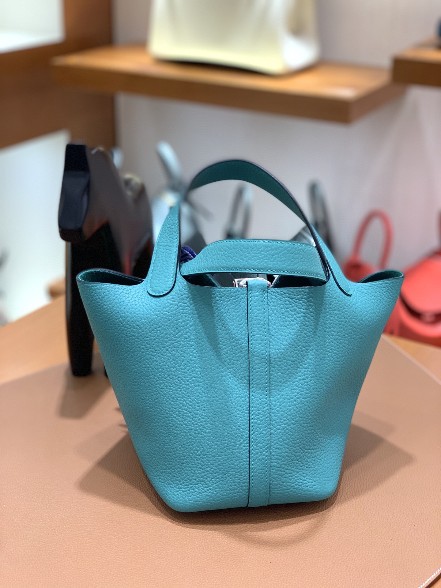 Hermès(爱马仕)Picotin 菜篮子 TC皮 U1 维罗纳绿 18cm 银扣