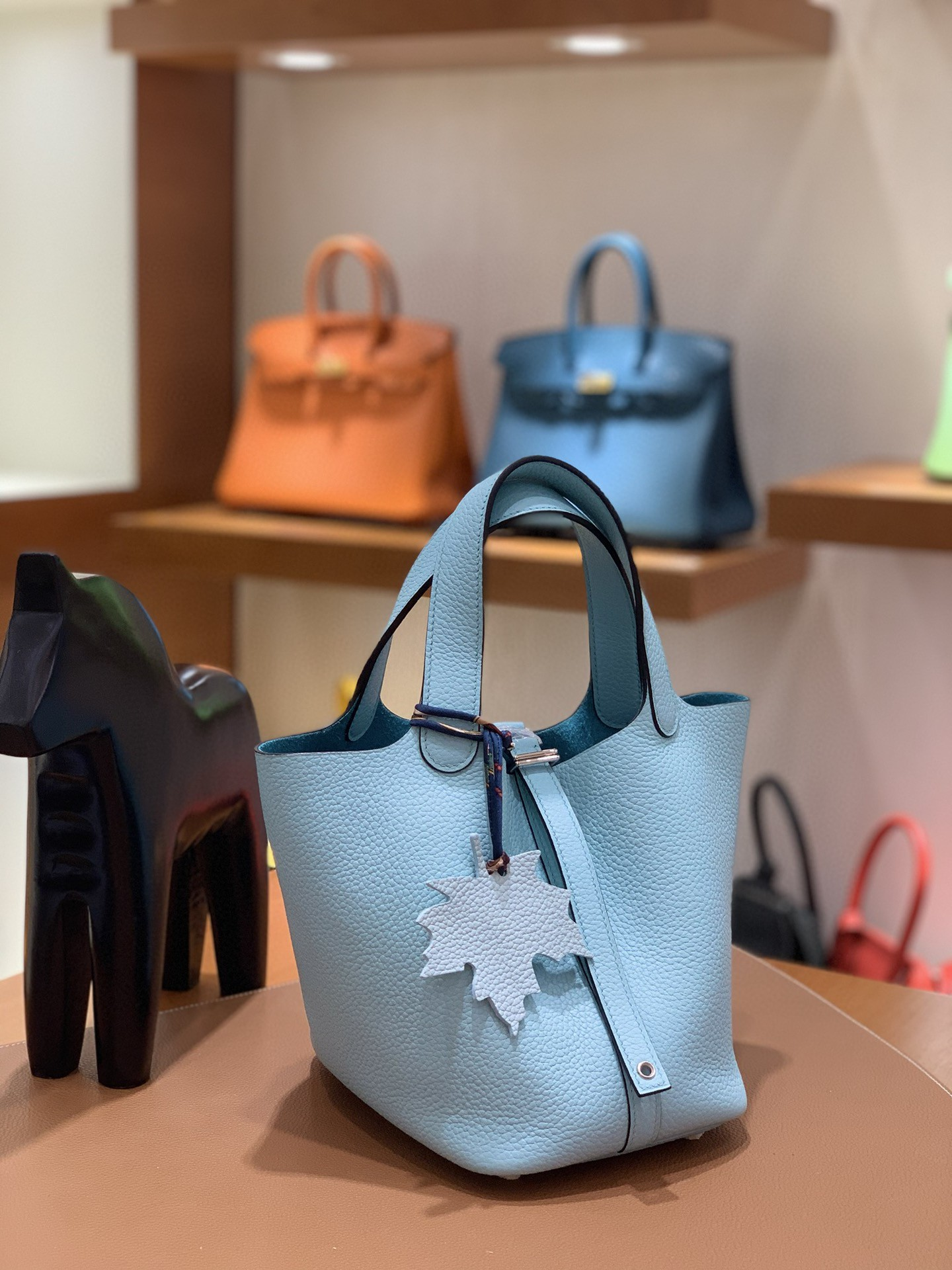 Hermès(爱马仕)Picotin 菜篮子 TC皮 3P 马卡龙蓝 18cm 银扣