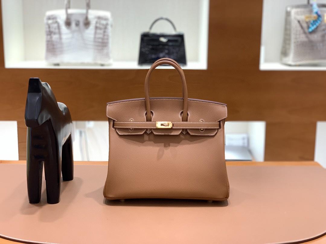 Hermès(爱马仕)Birkin 铂金包 Epsom 金棕色 金扣 25cm