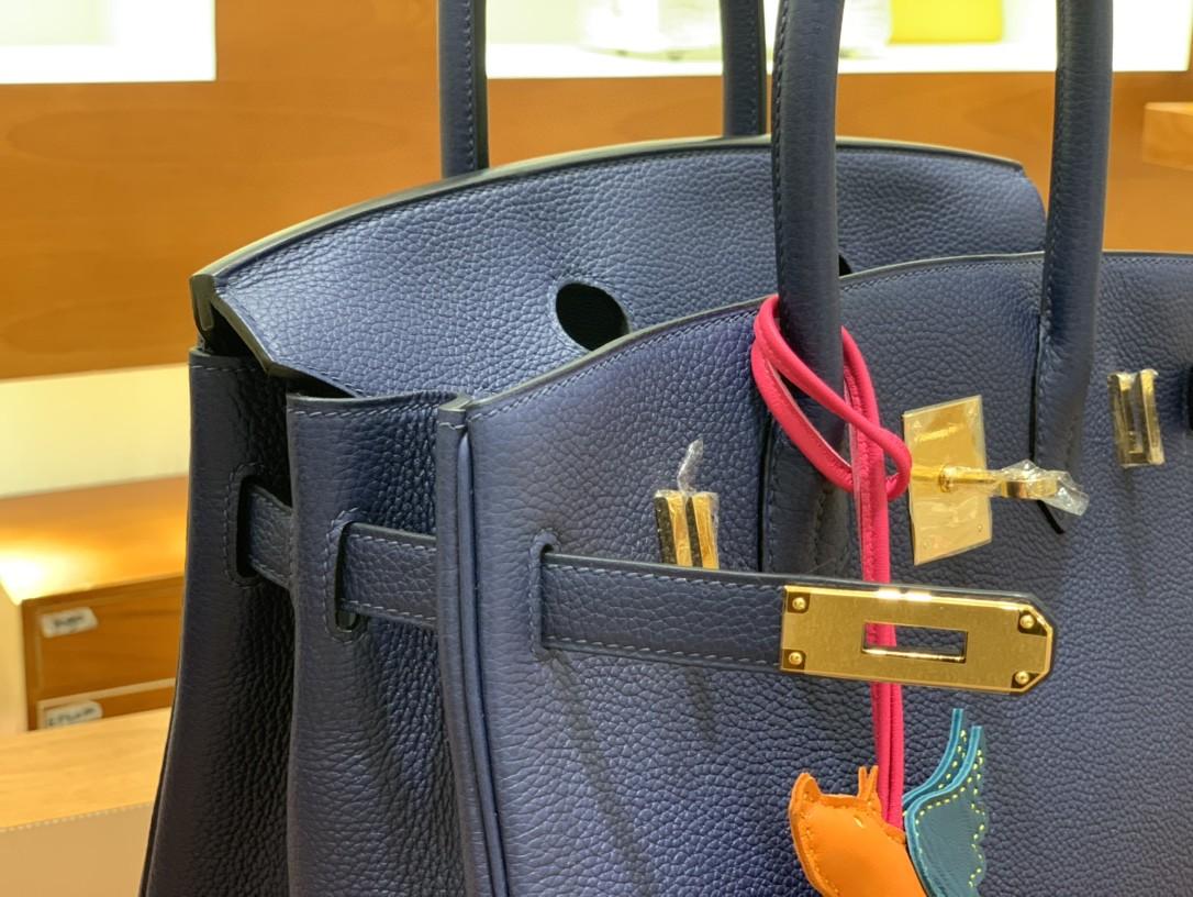 Hermès(爱马仕)Birkin 铂金包 Togo CK75 宝石蓝 金扣 30cm
