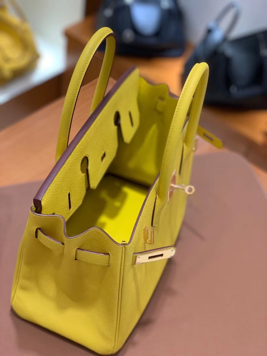 Hermès(爱马仕)Birkin 铂金包 Epsom 那不勒斯黄 金扣 30cm