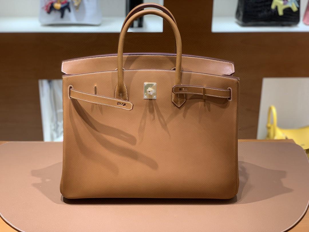 Hermès(爱马仕)Birkin 铂金包 马鞍皮 金棕色 金扣 40cm