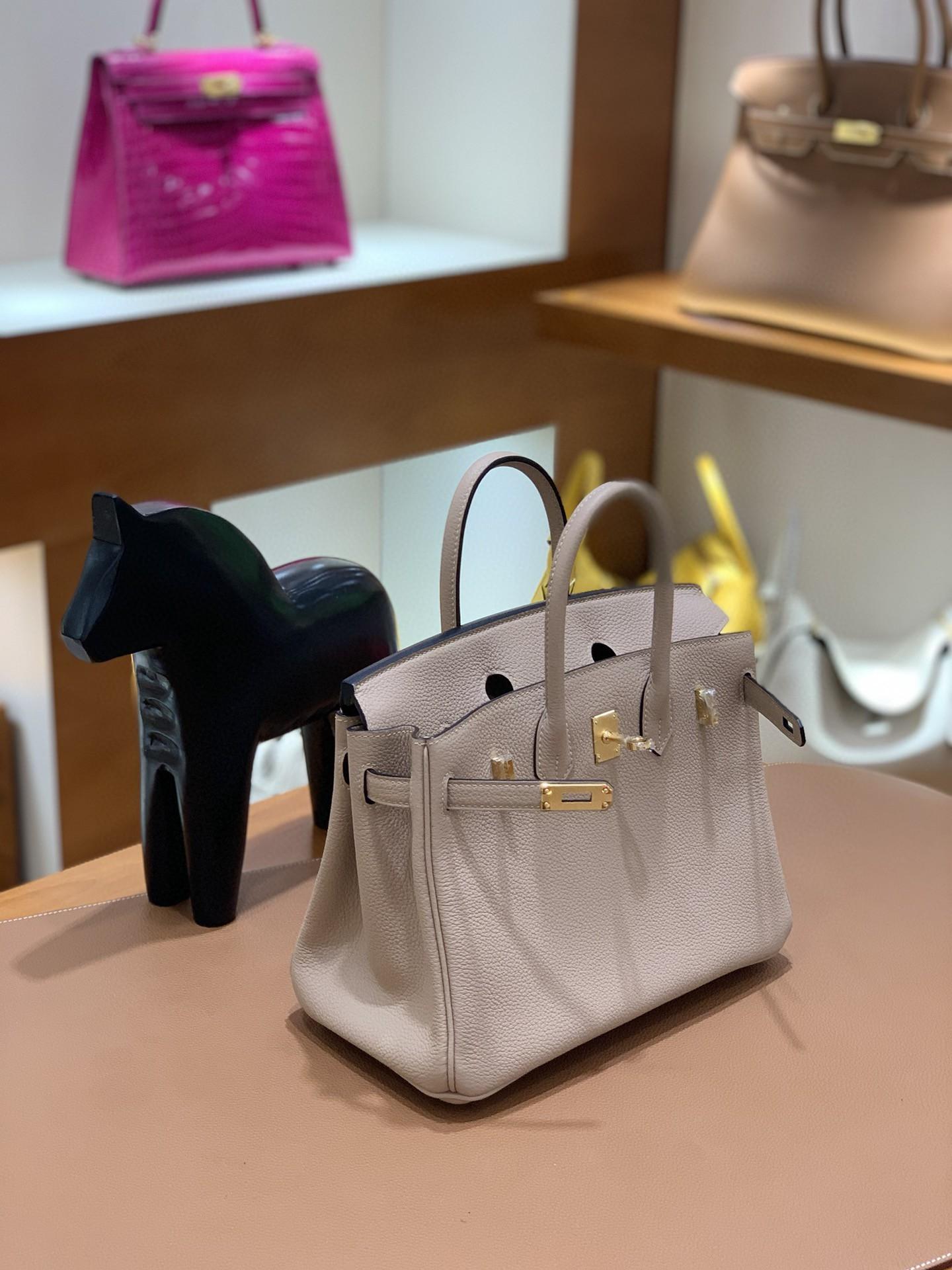 Hermès(爱马仕)Birkin 铂金包 Togo CK81 斑鸠灰 金扣 25cm
