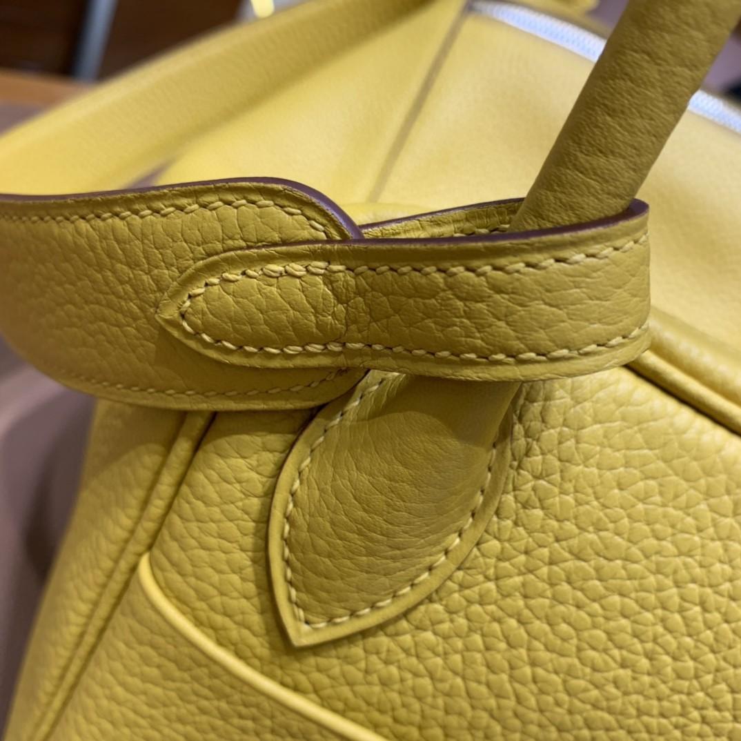 Hermès(爱马仕)Lindy 琳迪包 TC 琥珀黄 银扣 30cm