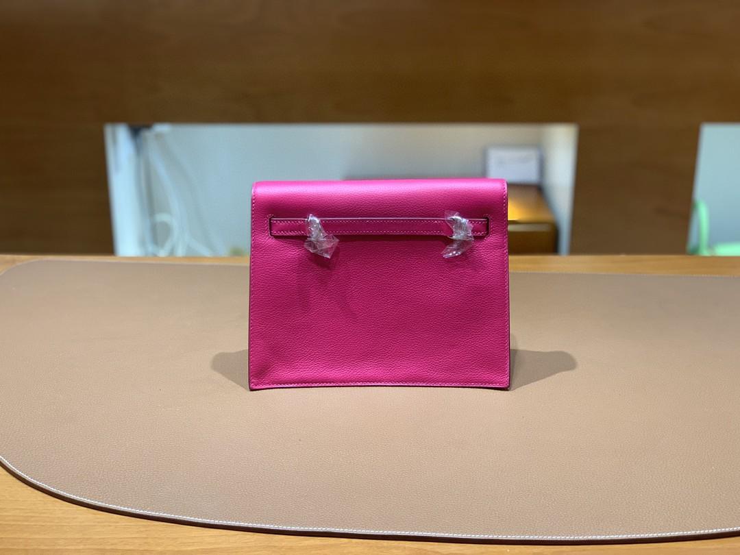 Hermès(爱马仕)Kelly danse 跳舞包 Ever color 墨西哥粉 22 银扣