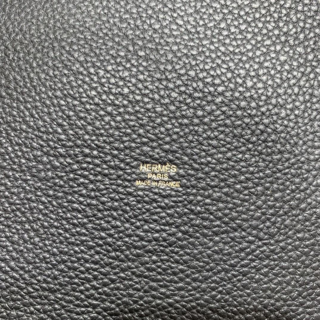 Hermès(爱马仕)Picotin 菜篮子 TC 黑色 22cm 金扣