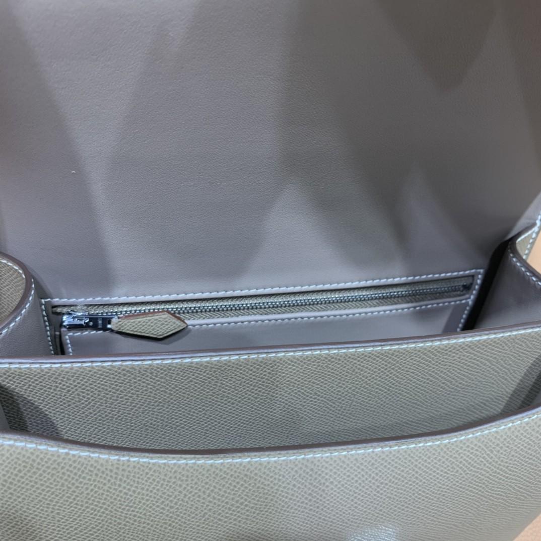 Hermès(爱马仕)Constance 康斯坦斯 Epsom 大象灰 银扣 23cm