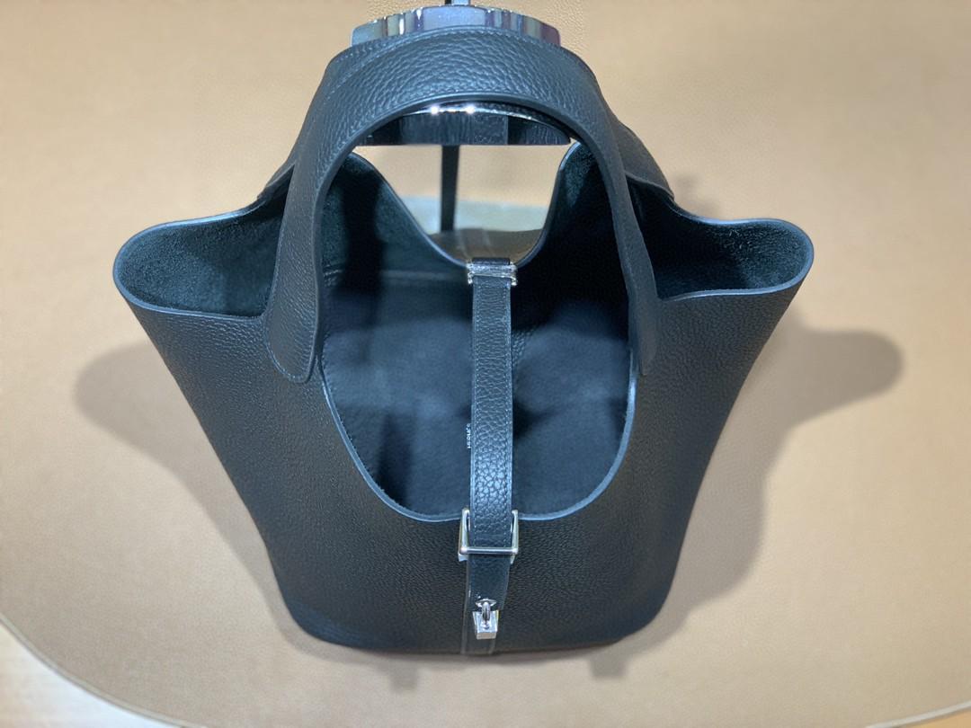 Hermès(爱马仕)Picotin 菜篮子 TC 黑色 银扣 22cm