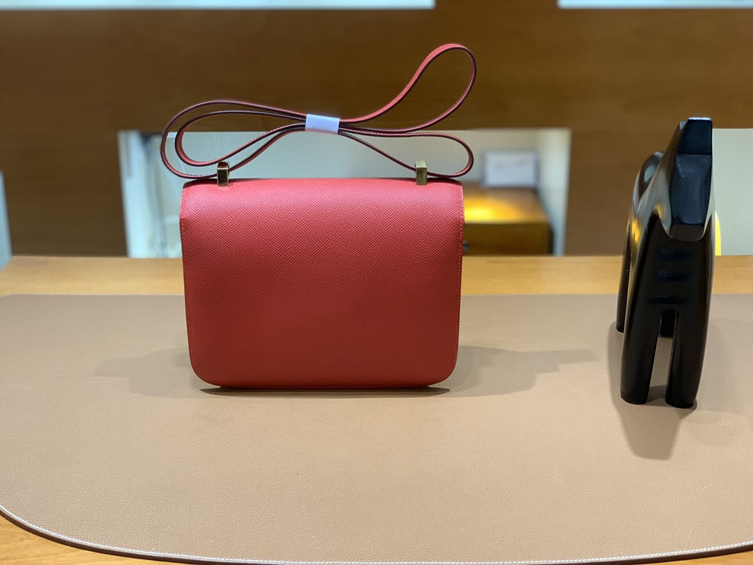 Hermès(爱马仕)Constance 康斯坦斯 Epsom 国旗红 金扣 23cm