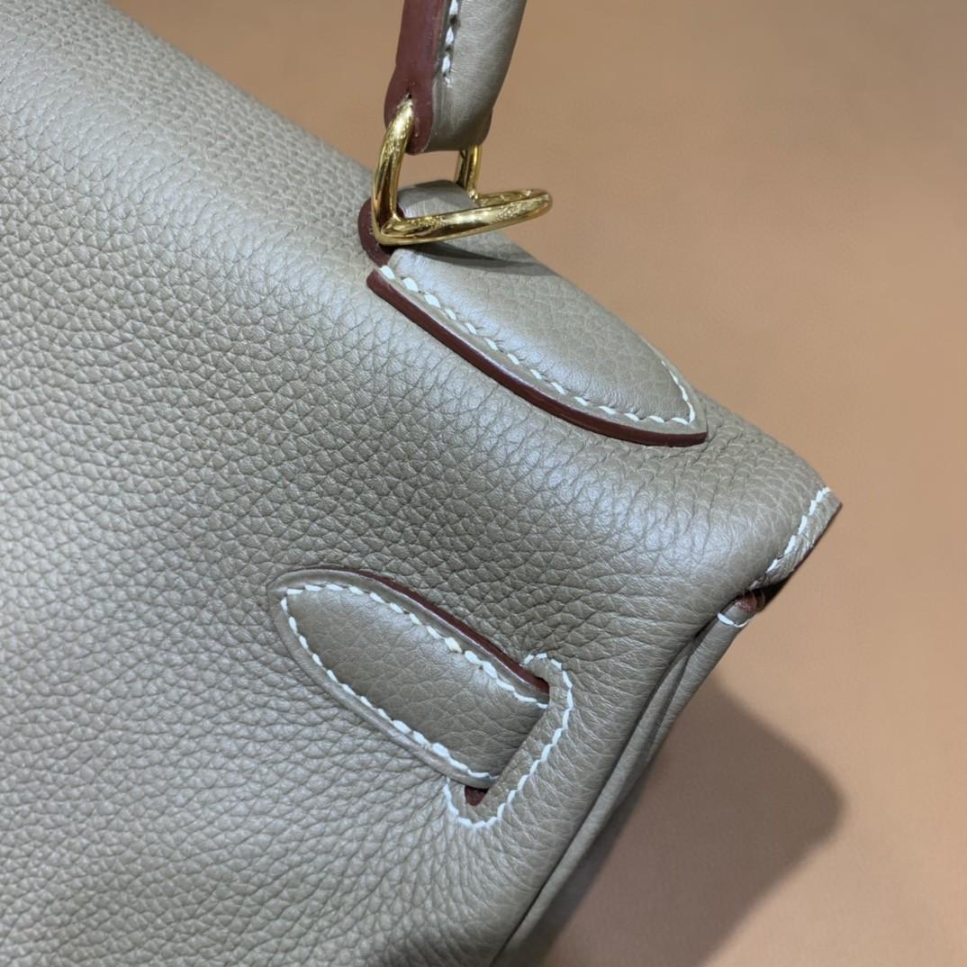 Hermès(爱马仕)Kelly 凯莉包 togo 大象灰 金扣 28cm