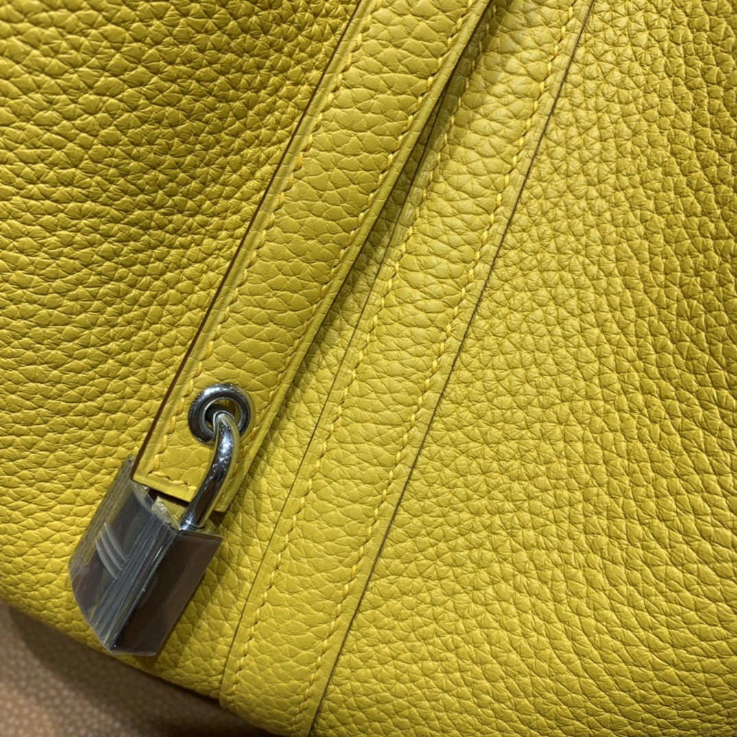 Hermès(爱马仕)Picotin 菜篮子 TC 9D 琥珀黄 银扣 22cm