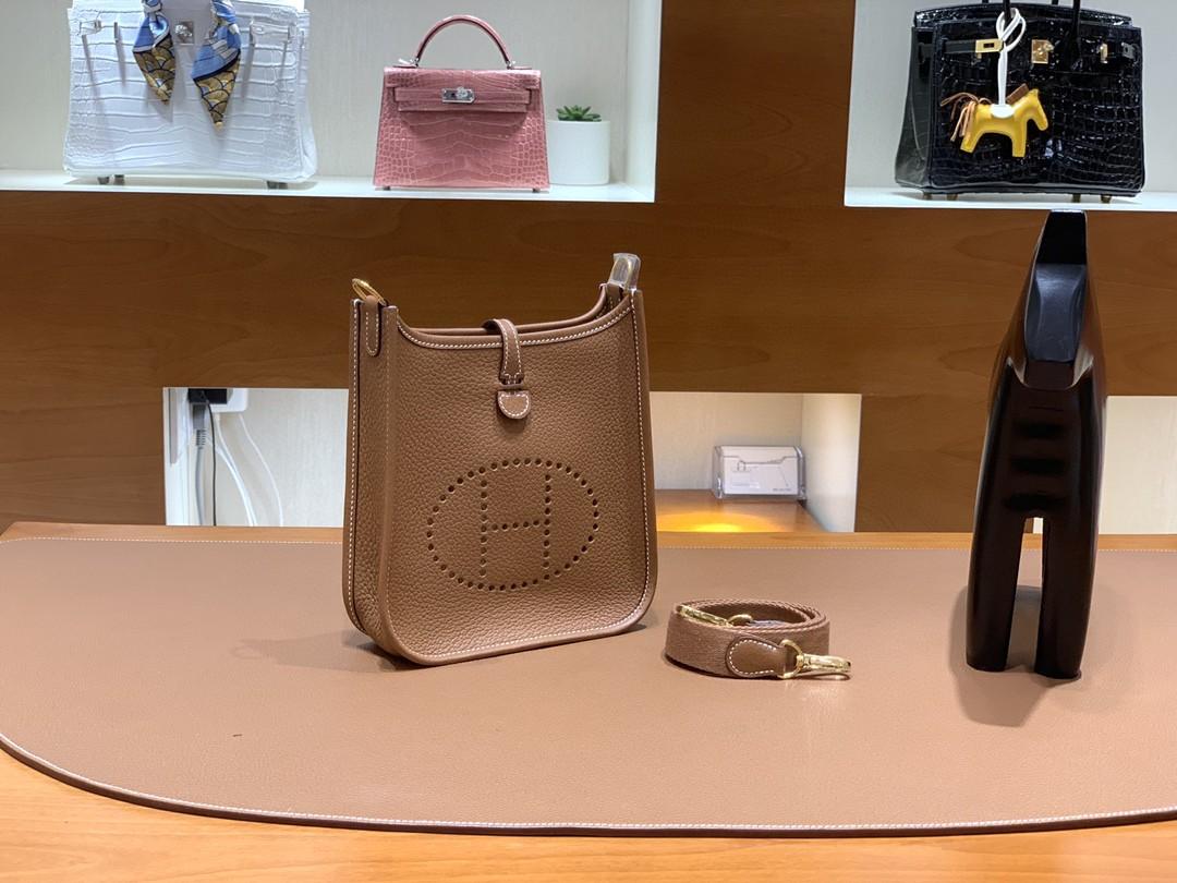 Hermès(爱马仕)Evelyne 伊芙琳 TC 金棕色 金扣 16cm