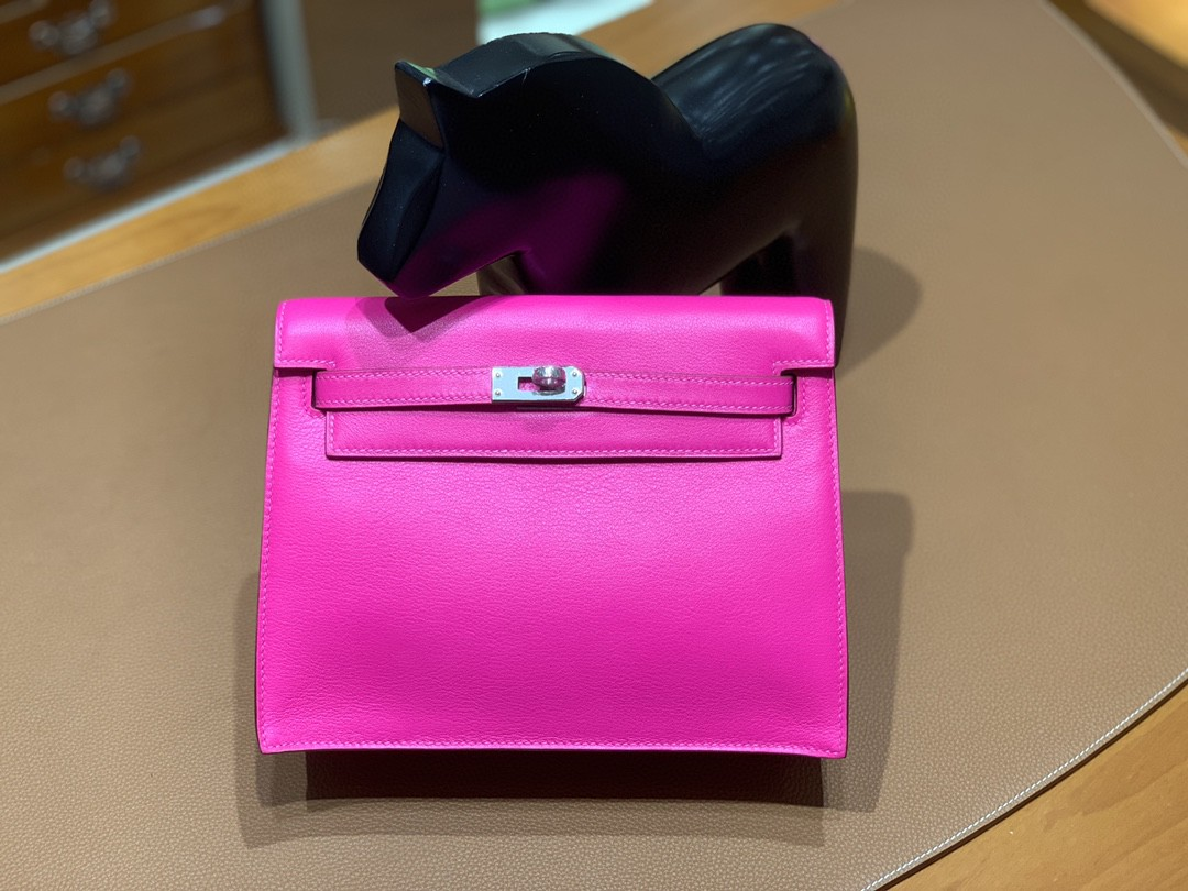 Hermès(爱马仕)Kelly danse 跳舞包 Ever color 极致粉 22 银扣