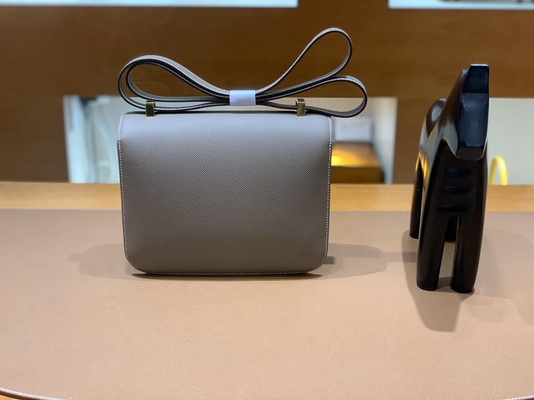 Hermès(爱马仕)Constance 康斯坦斯 Epsom 大象灰 金扣 23cm