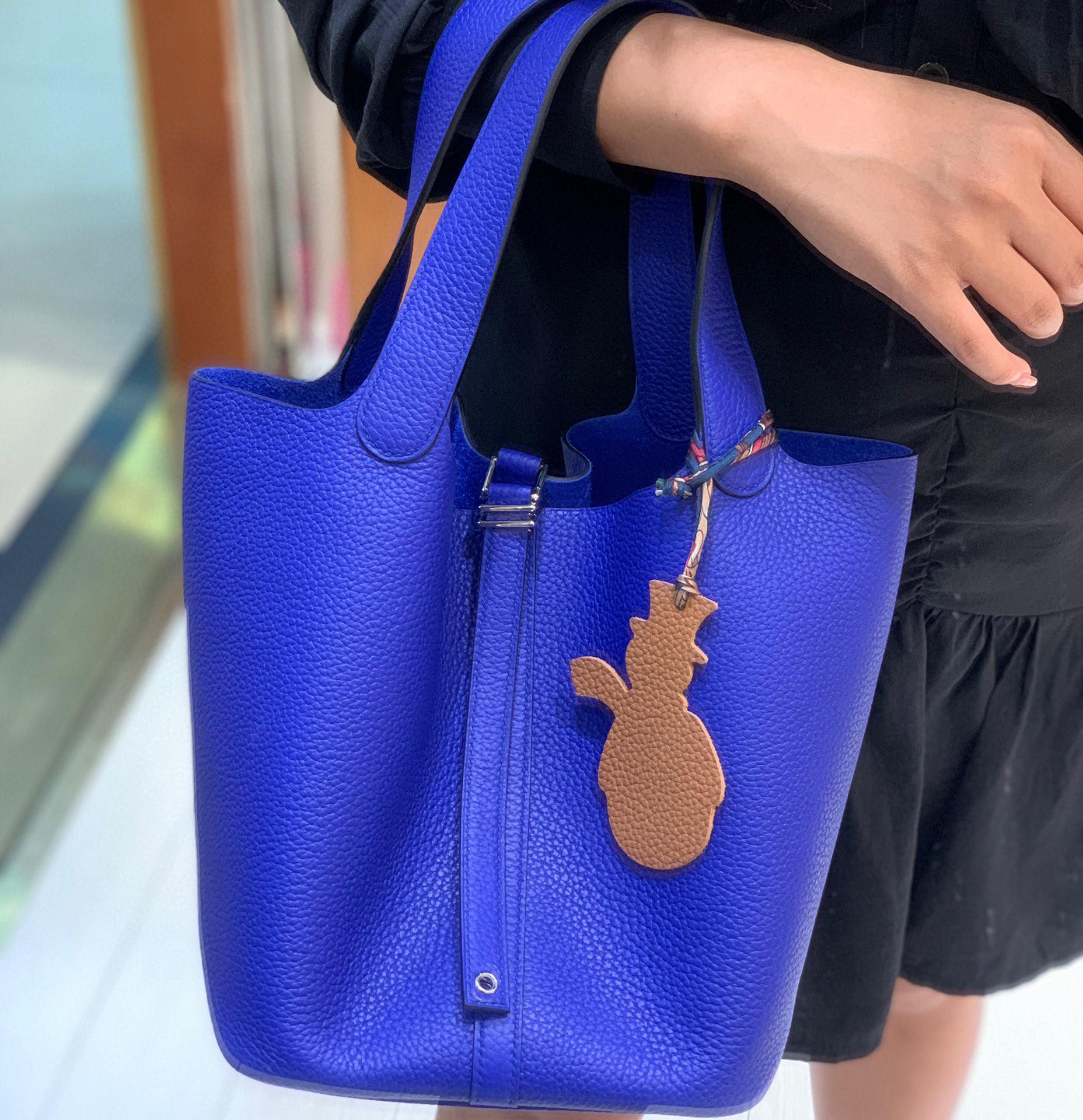 Hermès(爱马仕)Picotin 菜篮子 TC 琉璃蓝 银扣 22cm