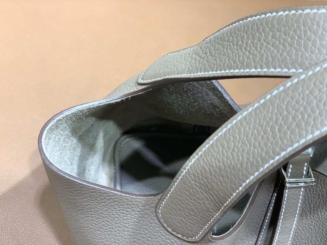 Hermès(爱马仕)Picotin 菜篮子 TC 大象灰 银扣 22cm