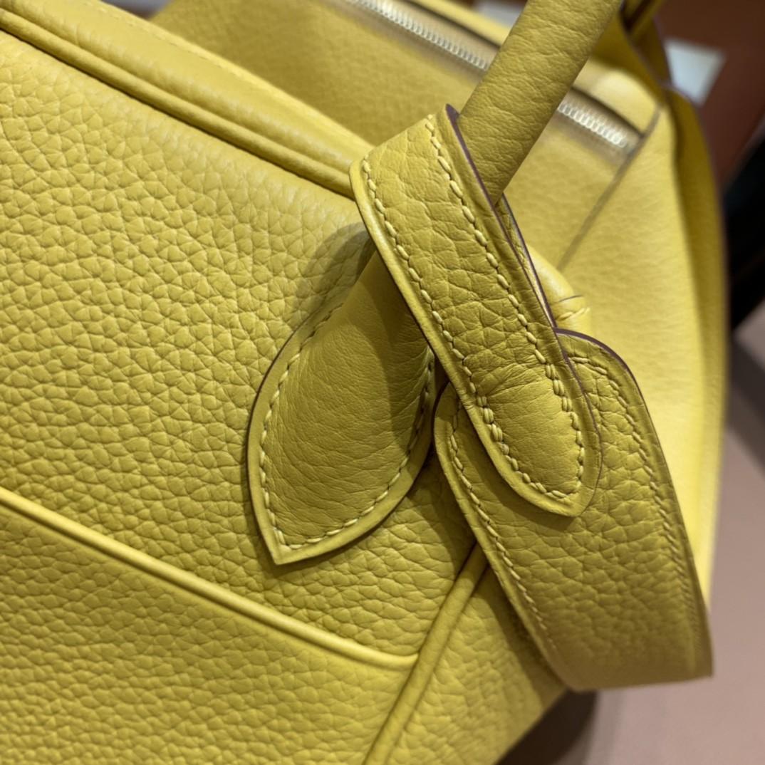 Hermès(爱马仕)Lindy 琳迪包 TC 琥珀黄 金扣 30cm