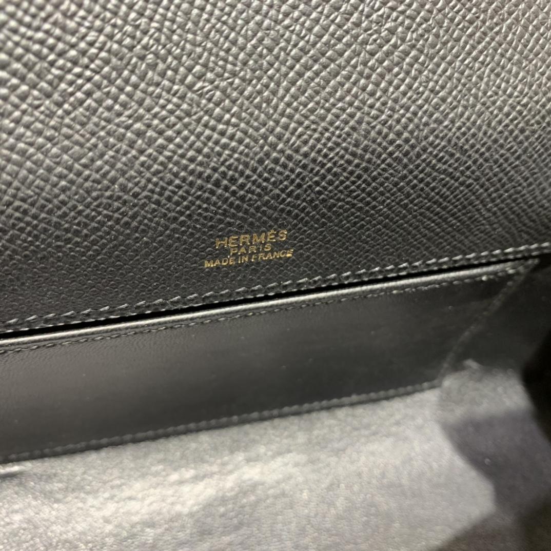 Hermès(爱马仕)Kelly Pochette 迷你凯莉 epsom 黑色 金扣 22cm