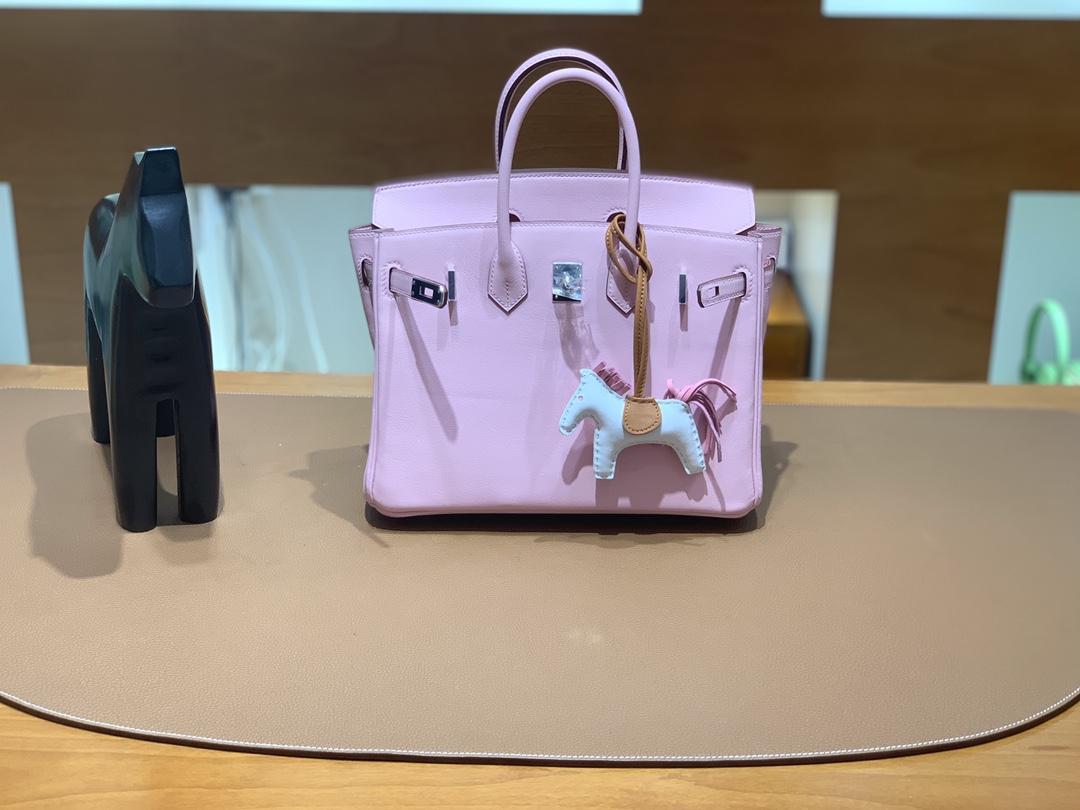 Hermès(爱马仕) Birkin 铂金包 Swift 樱花粉 银扣 25cm