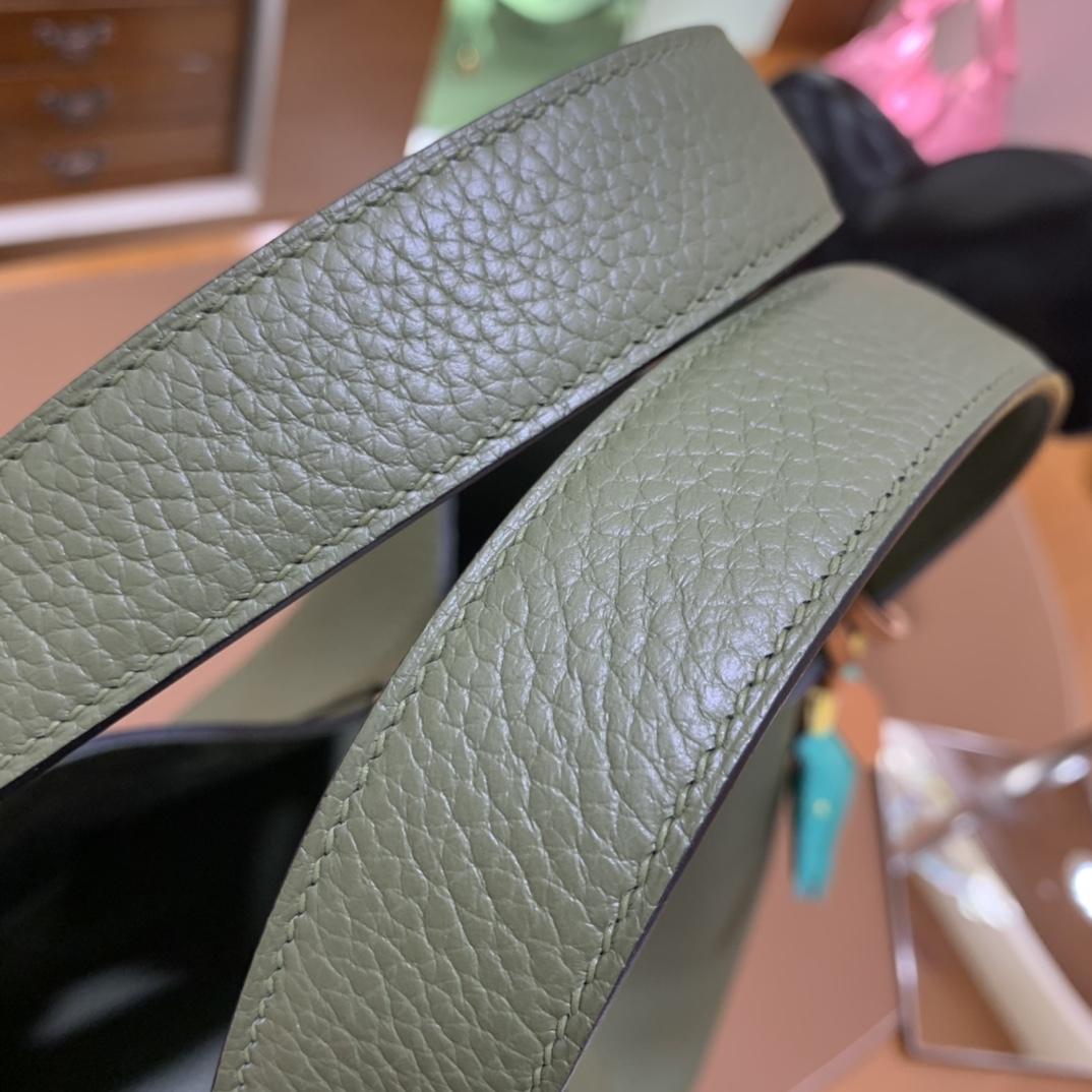 Hermès(爱马仕)Picotin 菜篮子 TC 丛林绿 金扣 22cm